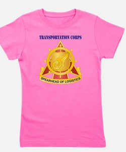 Transportation Corps with Text Girl's Tee