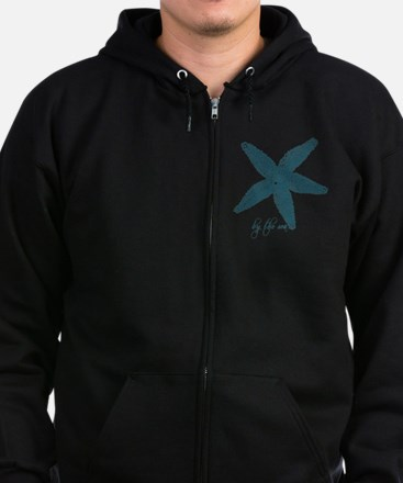 By the Sea Starfish Zip Hoodie (dark)