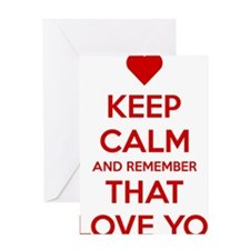 Keep Calm and Remember that I love y Greeting Card