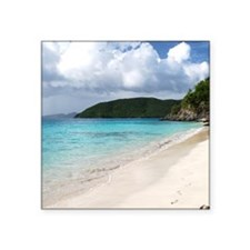 "Cinnamon Bay, St. John USVI Square Sticker 3"" x 3"""