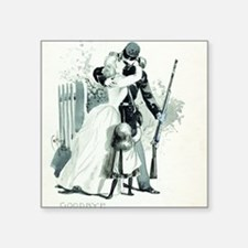 """Goodbye by Charles Reed Square Sticker 3"""" x 3"""""""