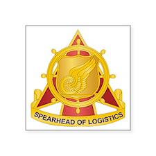 "Transportation Corps Square Sticker 3"" x 3"""