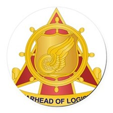 Transportation Corps Round Car Magnet