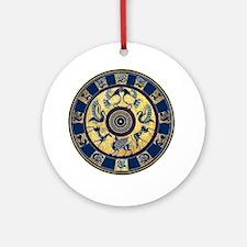 Greek Plate (round) Round Ornament