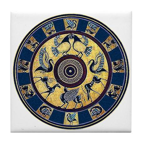 Greek Plate Tile Coaster