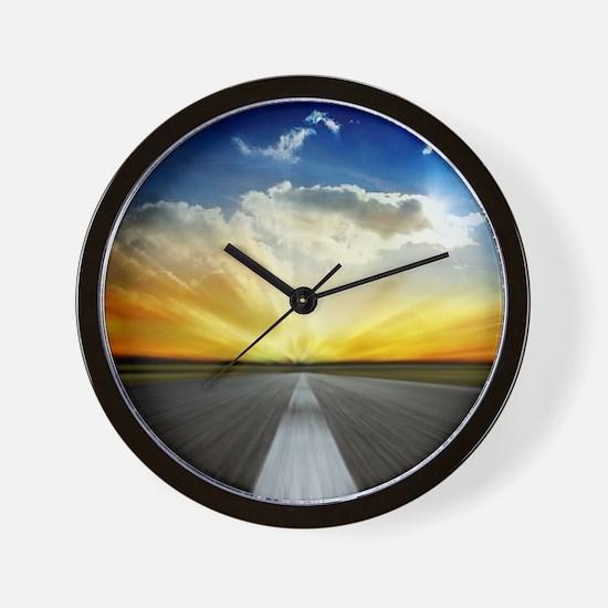 Open Road Wall Clock