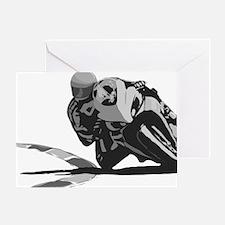 Track Rider Greeting Card