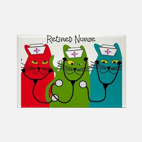 Retired Nurse Blanket CATS Rectangle Magnet