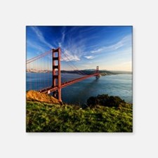 "Golden Gate Bridge Square Sticker 3"" x 3"""