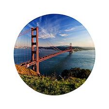 "Golden Gate Bridge 3.5"" Button"
