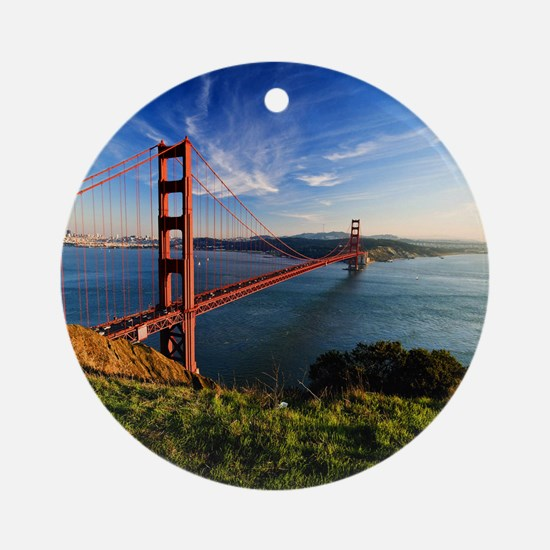 Golden Gate Bridge Round Ornament