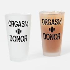 Orgasm Donor Drinking Glass