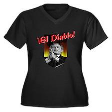El Diablo Women's Plus Size V-Neck Dark T-Shirt