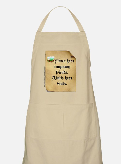 God and Imaginary friends Apron