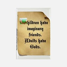 God and Imaginary friends Rectangle Magnet