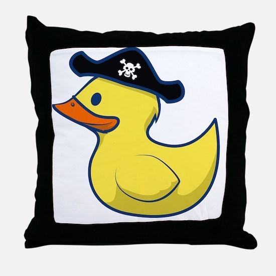 Pirate Duck Throw Pillow