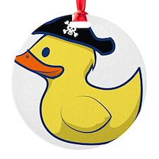 Pirate Duck Round Ornament
