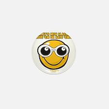 Glasses Smiley Mini Button