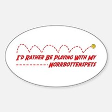 Norrbottenspets Play Oval Decal