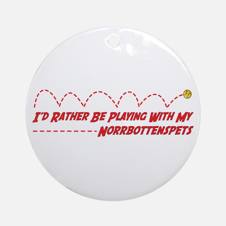 Norrbottenspets Play Ornament (Round)