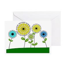Retired nurse pillow 3  2013 Greeting Card