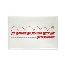Otterhound Play Rectangle Magnet