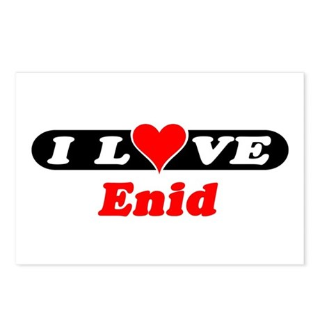 I Love Enid Postcards (Package of 8)