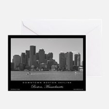 Downtown Boston Skyline - Greeting Cards (6)