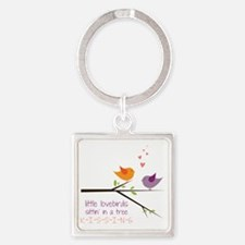 Little Lovebirds Square Keychain