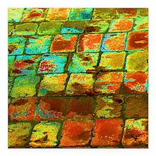 "brick Square Car Magnet 3"" x 3"""