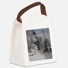 Snowflake Ornament Canvas Lunch Bag