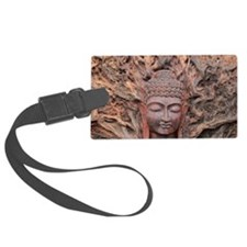 Asian Woodcarving Luggage Tag