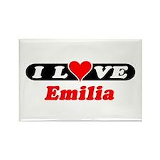 I Love Emilia Rectangle Magnet