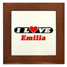 I Love Emilia Framed Tile