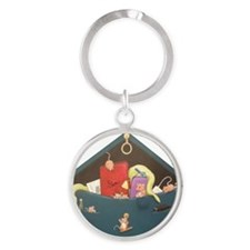 A Fun Day Out Woodhill Whiskers Round Keychain