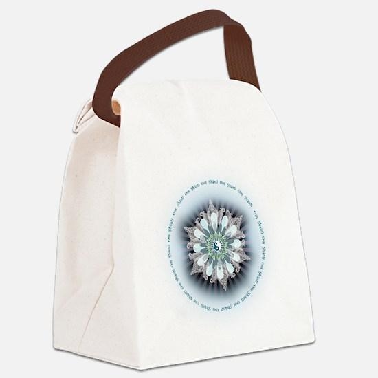 Om Shanti Lotus Canvas Lunch Bag