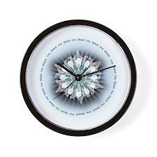 Om Shanti Lotus Wall Clock