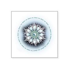 """Om Shanti Lotus Square Sticker 3"""" x 3"""""""