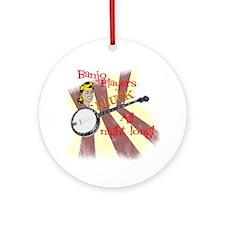 Banjo Players Round Ornament