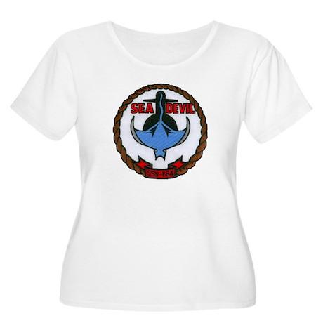 USS SEA DEVIL Women's Plus Size Scoop Neck T-Shirt