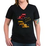 Speed Racer Women's V-Neck Dark T-Shirt