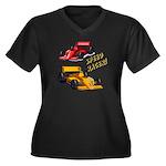 Speed Racer Women's Plus Size V-Neck Dark T-Shirt