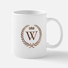 Napoleon initial letter W monogram Mug