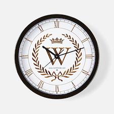 Napoleon initial letter W monogram Wall Clock
