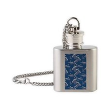 Orca_Blue_Large Flask Necklace