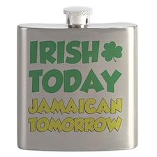 Irish Today Jamaican Tomorrow Flask