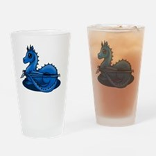 Blue Dragon Drinking Glass