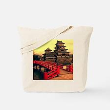 Pagoda with Bridge Tote Bag