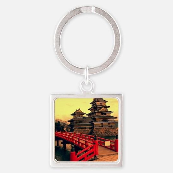Pagoda with Bridge Square Keychain