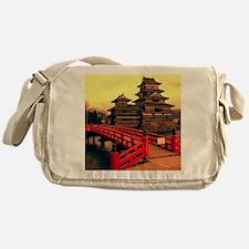 Pagoda with Bridge Messenger Bag
